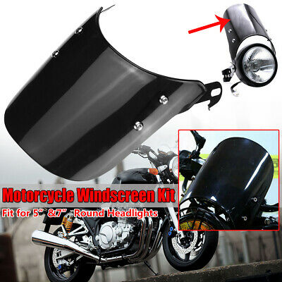 """Clear Motorcycle Windshield Windscreen Mount Bracket For 5/"""" /& 7/"""" Round"""
