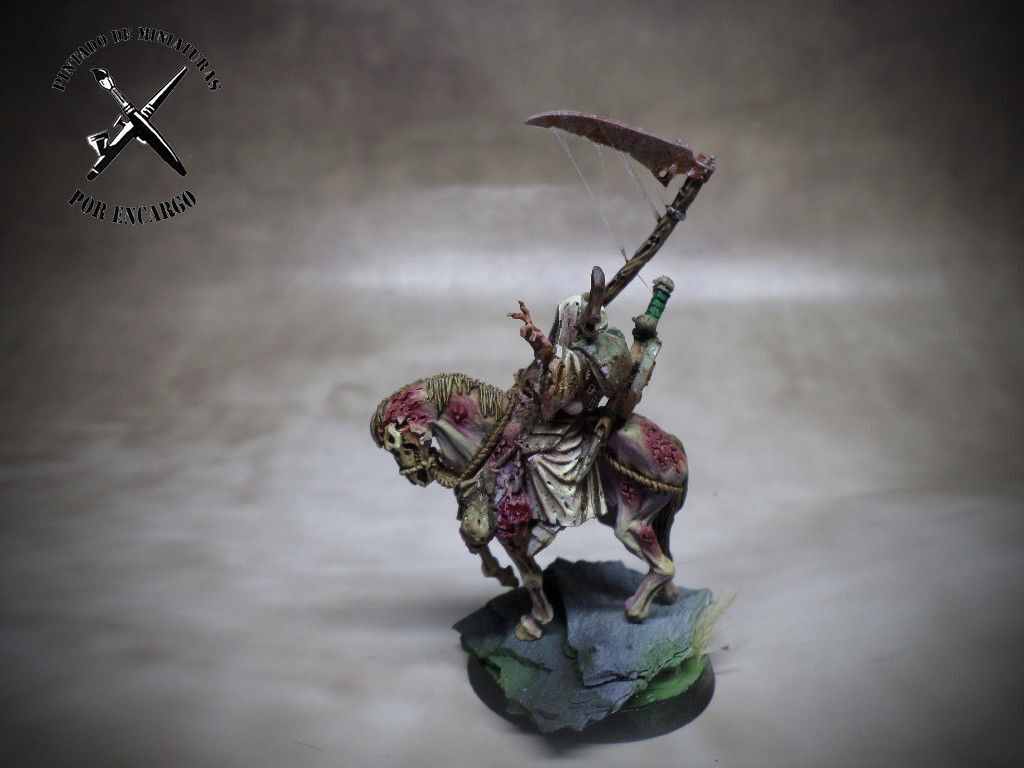 Mounted nurgle chaos  lord paladin PROPAINTED warhammer  sconto online di vendita