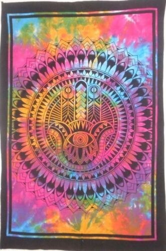 New Design Fatima Hand Hamsa Tapestry Indian Mandala Wall Hanging Throw Decor