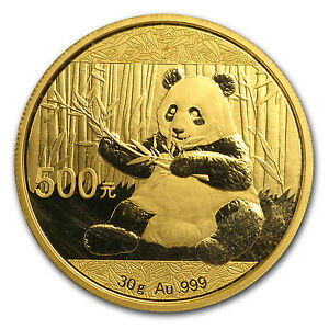 2017 China 30 gram Gold Panda BU (Sealed) - SKU #104526