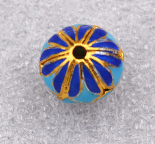 cloisonne beads  Flower Tibet amulets Jewelry accessories gifts14x14mm