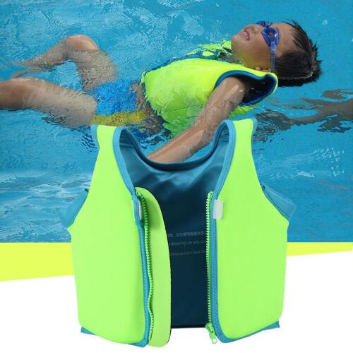 Kinder Schwimmweste Schwimmende Zip Life Jacket Schwimmhilfe Jungen//Mädchen Neu*