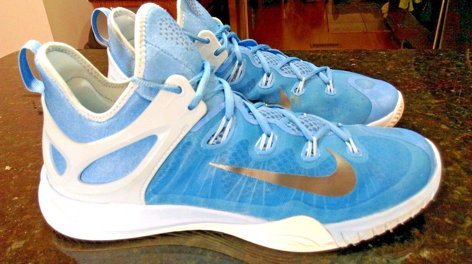 Mens NIKE ZOOM HYPERREV 2015 Basketball shoes 742247 403 Powder blueE WHITE Sz 14