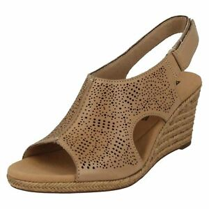 Clarks Wedge Sand Smart Heeled Leather Lafley Rosen Sandals Ladies zAdqTwT