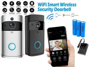 Two-Way-Door-Bell-WiFi-Wireless-Video-PIR-Doorbell-Talk-Smart-Security-HD-Camera