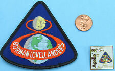 NASA PATCH & PIN PAIR vtg APOLLO 8 - 25th Anniversary Borman Lovell Anders