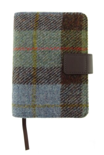 Authentic Harris Tweed Cover With Notebook Gunn Tartan//Check LB2107 COL 15
