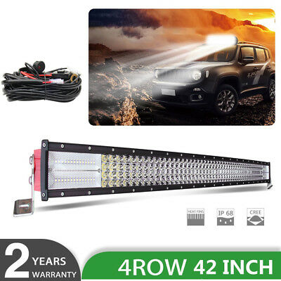 12D 4Row 52Inch CURVED 3280W LED LIGHT BAR COMBO SPOT FLOOD OFF ROAD FOR FORD 50