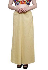 Women's Cotton Best Inskirt Saree Beige petticoats Underskirt