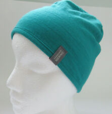 9af14176dbe Icebreaker Beanie Hat Toque Solid Green Merino Lined One Size Fits Tight 1  Size