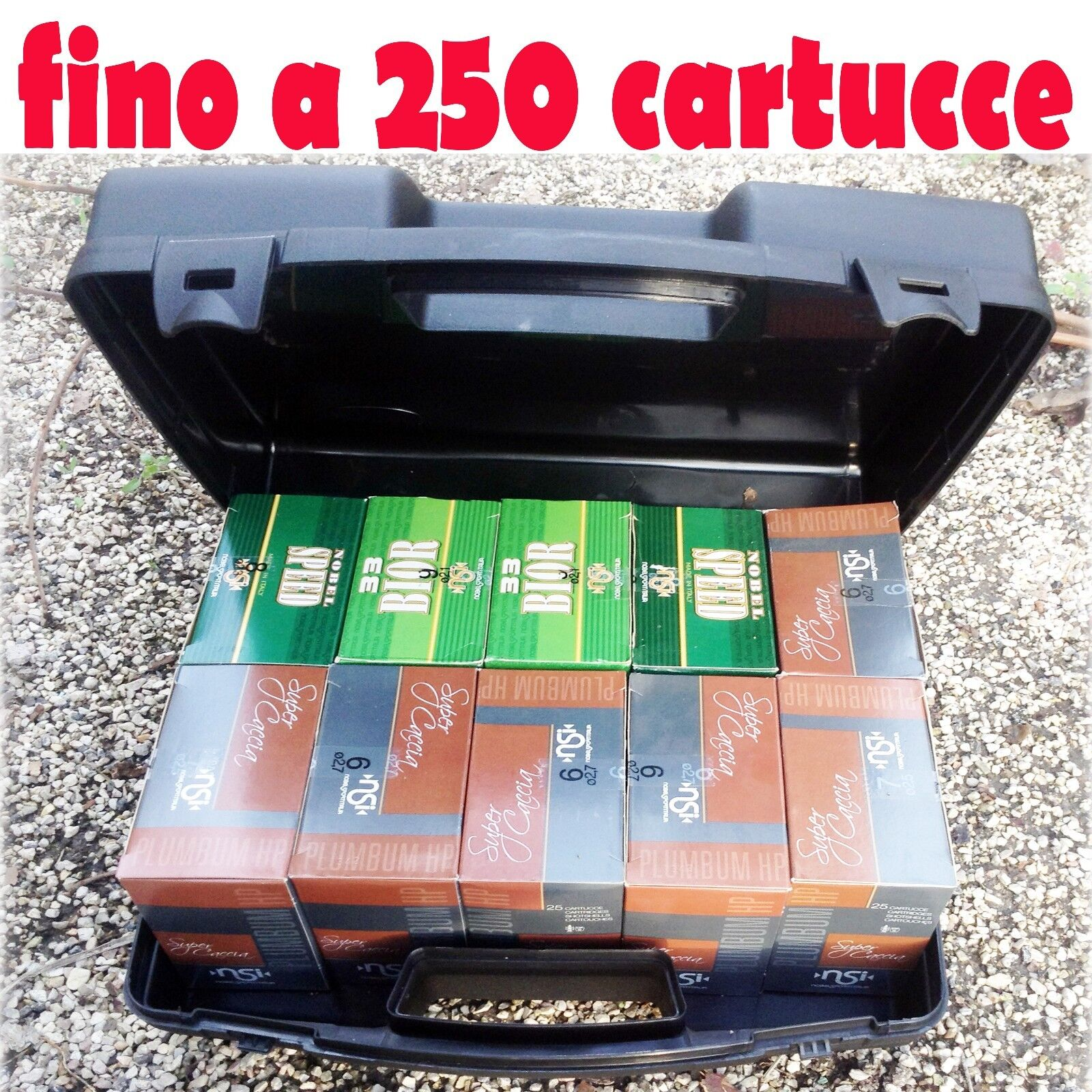 Valigetta in plastica porta cartucce portacartucce borsa per tiro a volo caccia