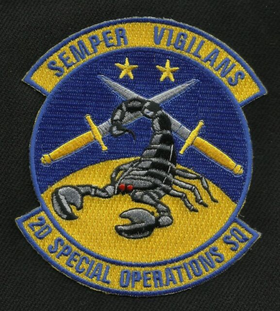 AIR FORCE USAF 2nd SPECIAL OPERATIONS SQUADRON SEMPER VIGILANS MILITARY PATCH