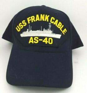 USS FRANK CABLE AS 40 U.S NAVY SHIP HAT U.S MILITARY OFFICIAL BALL CAP U.S.A