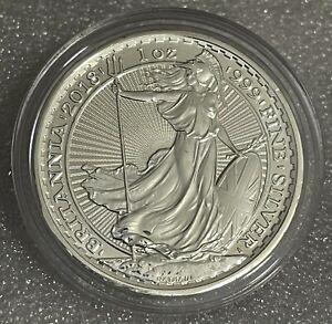 2018 1 oz .999 Silver Britannia Coin - DOG PRIVY -  In Guardhouse Capsule
