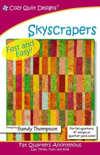 """Skyscrapers  pattern by Cozy Quilts Uses Fat Quarters or  6/"""" strips"""