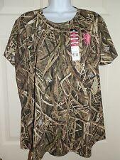 New Womens size 2XL Mossy Oak Blades T-Shirt camo grass