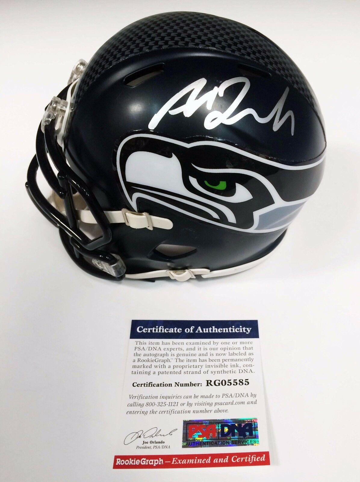 Seattle Seahawks Amara Darboh Signed Riddell Mini Helmet PSA/DNA RG05585