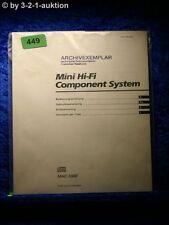 Sony Bedienungsanleitung MHC 5900 Mini Hifi Component System (#0449)