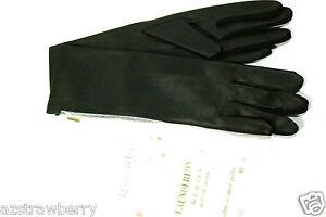 Grandoe Vintage Marque Neuf Noir Pour Femmes Gants S6 Soapable Cuir Acrylique 100% De MatéRiaux De Haute Qualité