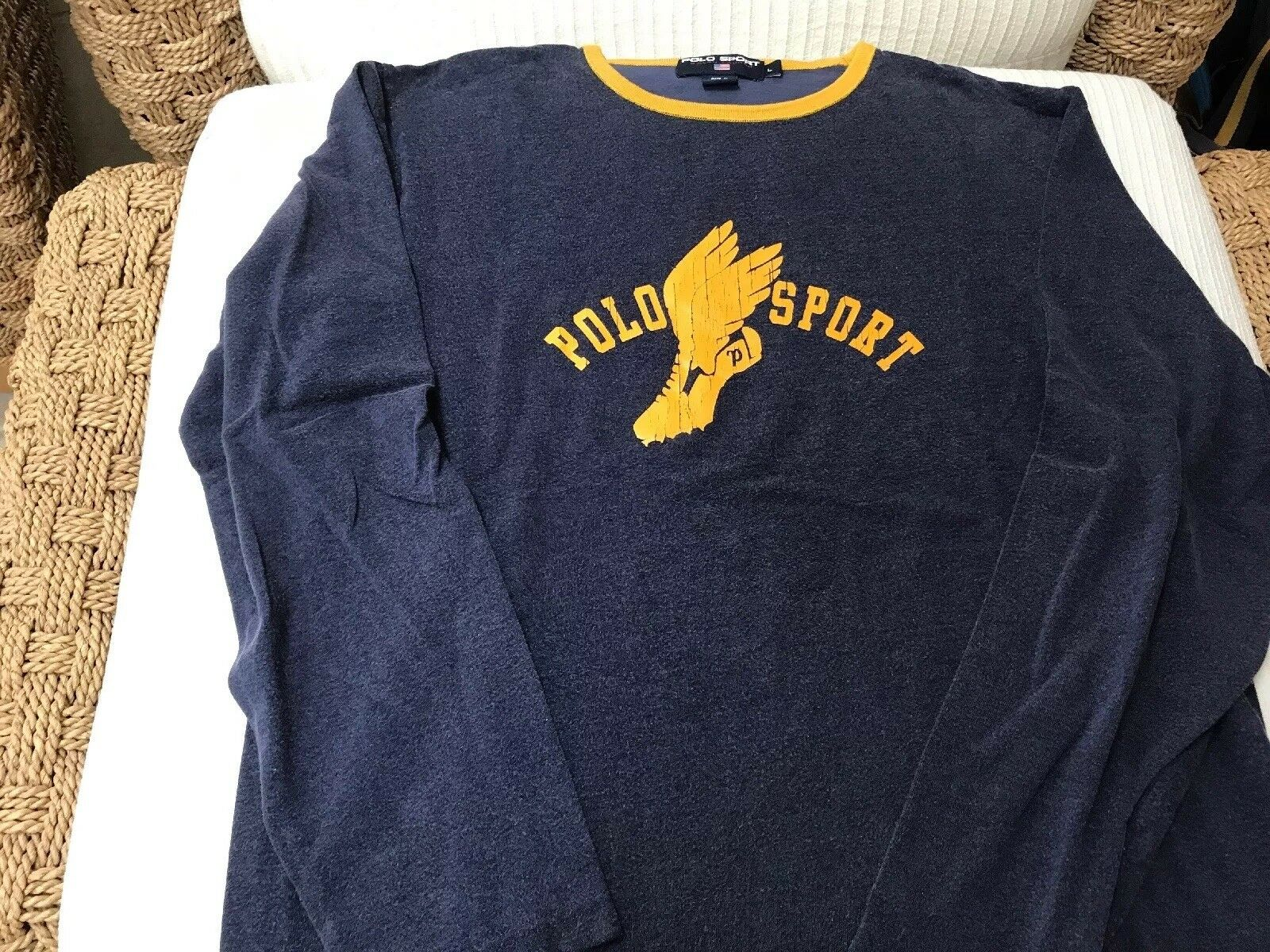 Polo Ralph Lauren Polo Long Sleeve, T-Shirt Size L, P Wing, POLO SPORT, Preowned