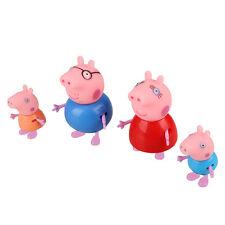 4 Figuren Set Peppa Pig Family Schwein Familie Mama Wutz Daddy George HOT Nue