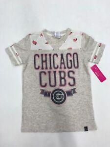 save off 8395d fb3db MLB Team Apparel Chicago Cubs Beige Floral Girls Sample Size ...