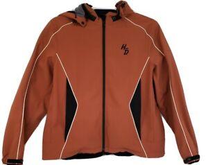 Harley-Davidson-Hoodie-Jacket-Soft-Shell-w-Removable-Hood-Reflective-Women-039-s-1W