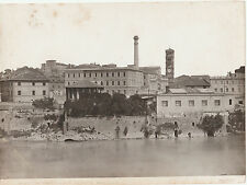 Lge Antique ALBUMEN PHOTO PRINT ROME Imboccatora Claoca Massima ANDERSON 1813-77