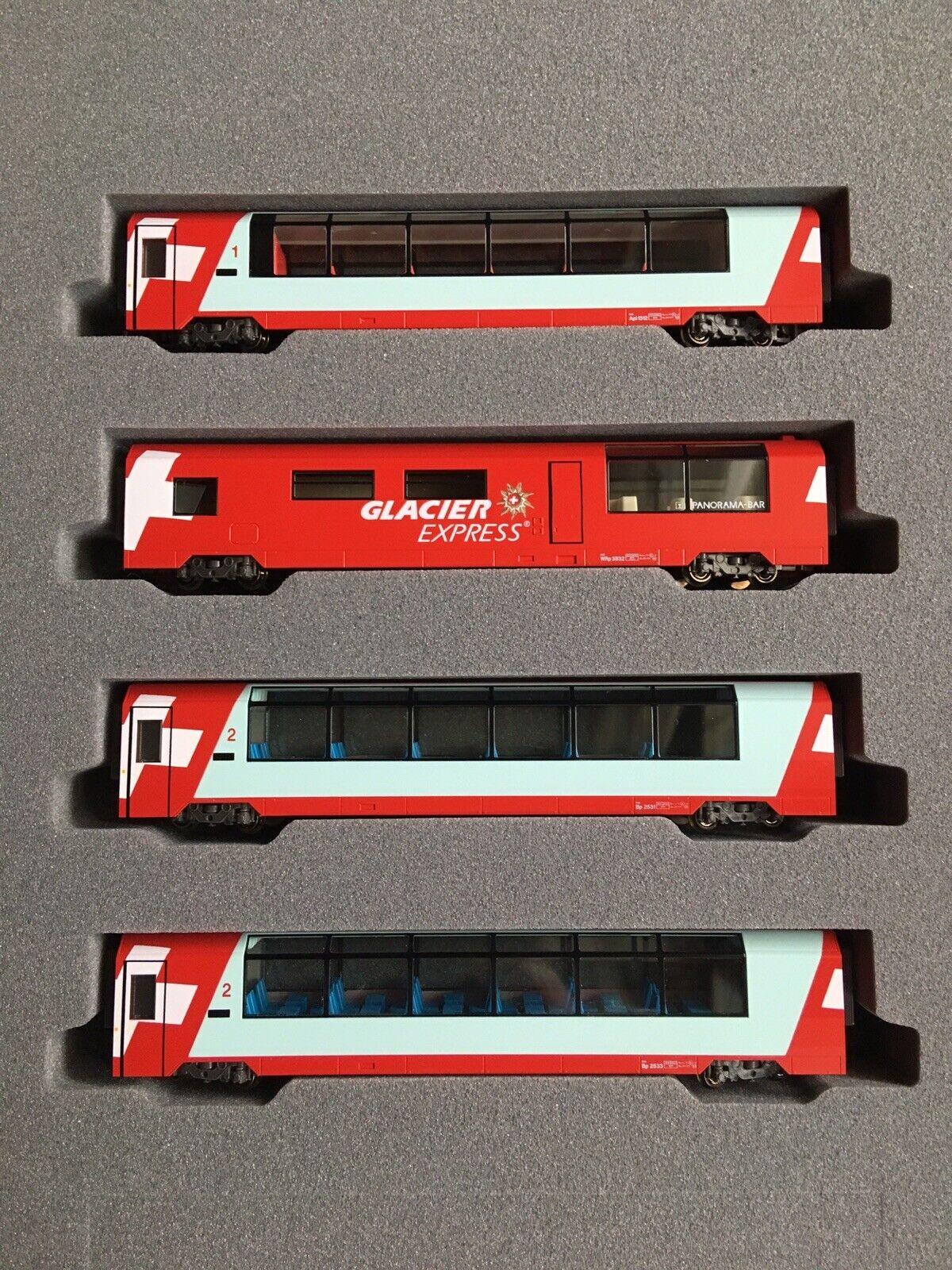 Kato 10-1146 - Glacier Express - 4pcs Extension set-N gauge