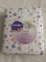 Babies R Us Comfy Douillet Jersey Knit Crib Sheet Floral Plum Flowers