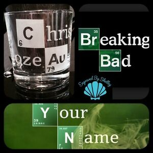 Personalised breaking bad whiskey glass gift your name in periodic image is loading personalised breaking bad whiskey glass gift 039 your urtaz Gallery