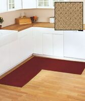 Natural Berber Corner Rug Runner Kitchen Hallway Bedroom Bathroom Non-slip