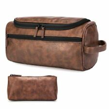 ff260fcd875 item 3 Large Leather Wash Bag Travel Case Hanging Hook Makeup Shaving Toiletry  Cosmetic -Large Leather Wash Bag Travel Case Hanging Hook Makeup Shaving ...