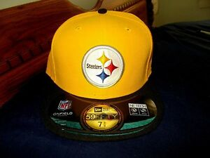 a261ed36208bd1 NWT New Era 59Fifty 5950 Pittsburgh Steelers Fitted NFL Cap Hat Size ...