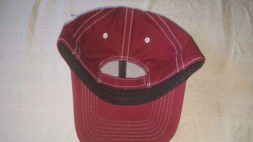 New with Tags Crown Royal Baseball Hat//Cap Maroon With White Stitching