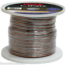 250' ft Roll 14 Ga Clear Car & Home Audio Stereo Speaker Wire Cable 14 Gauge AWG