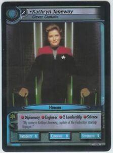 Star-Trek-CCG-To-Boldly-Go-FOIL-0AP6-Kathryn-Janeway-Clever-Captain