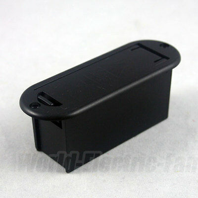 9V Battery Case Holder Cover Box BLACK for Active Guitar Bass Pickups Preamps
