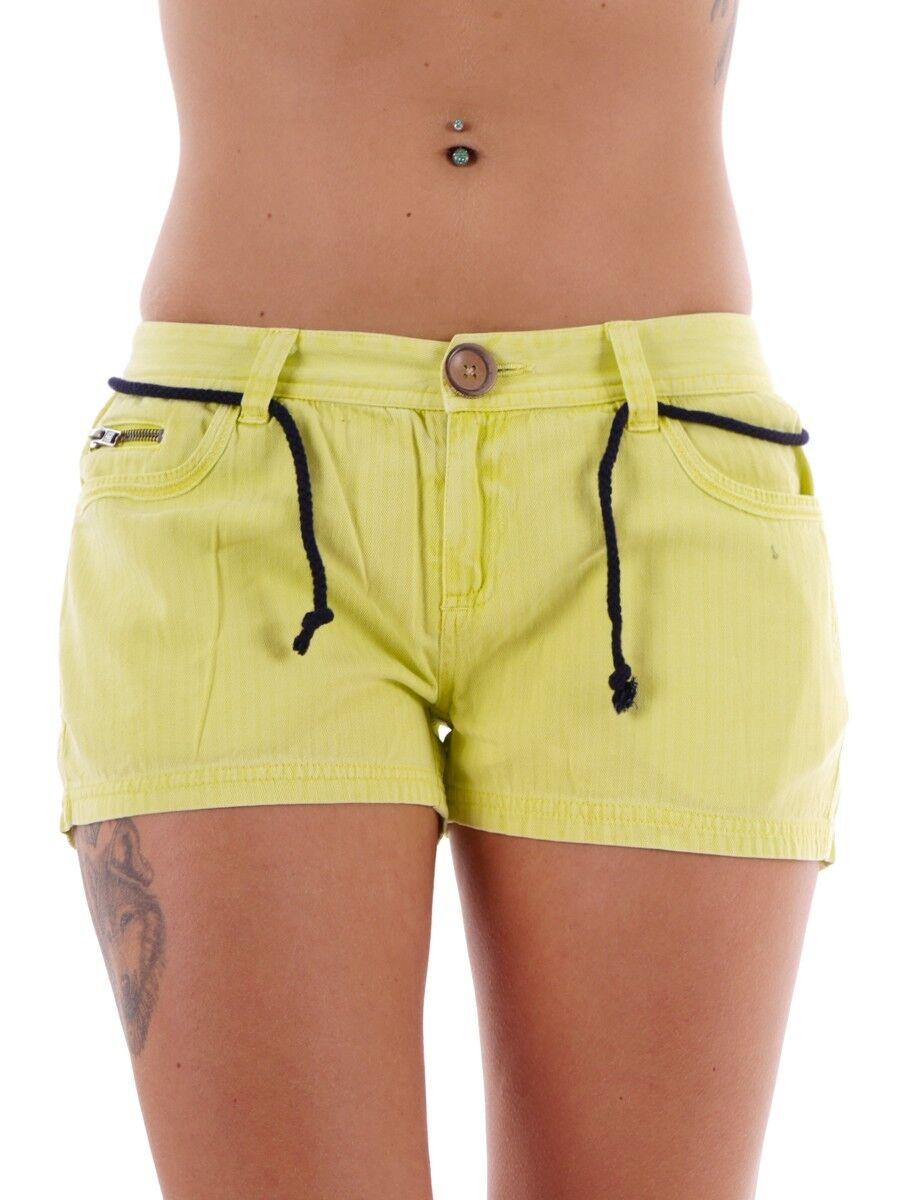 Brunotti Walkshort Summer Trousers Panty Yellow gacerenzana Cord Zipper