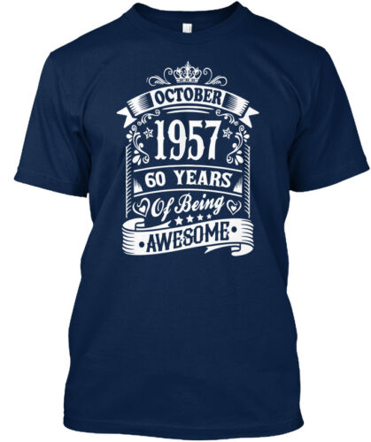60 ans d/'être génial Standard Unisexe T-Shirt 1957 octobre