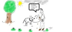 Dog-Poo-Bags-Joke-Cartoon-Signed-by-the-Artist-10x8-inch-Print-New