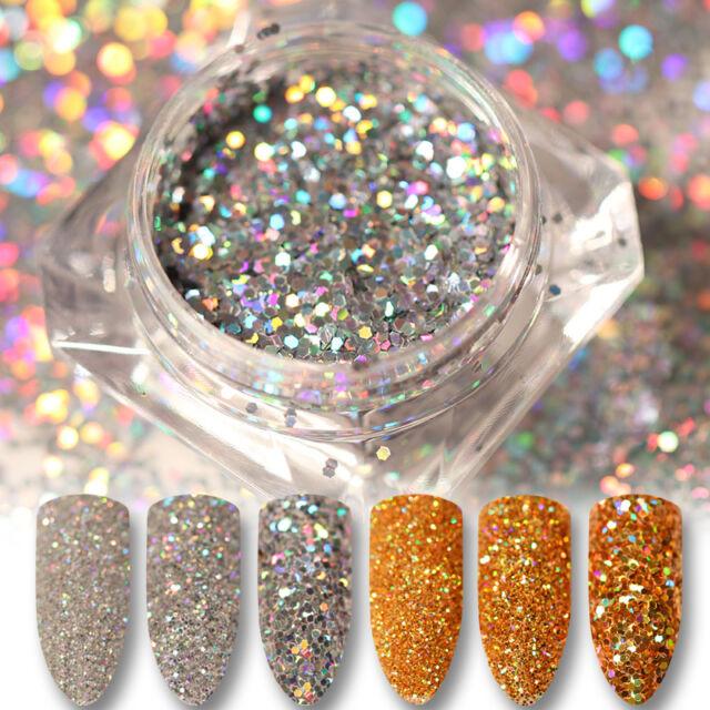 BORN PRETTY Nail Glitter Sequins Paillette Powder Holographic Laser Nail Art