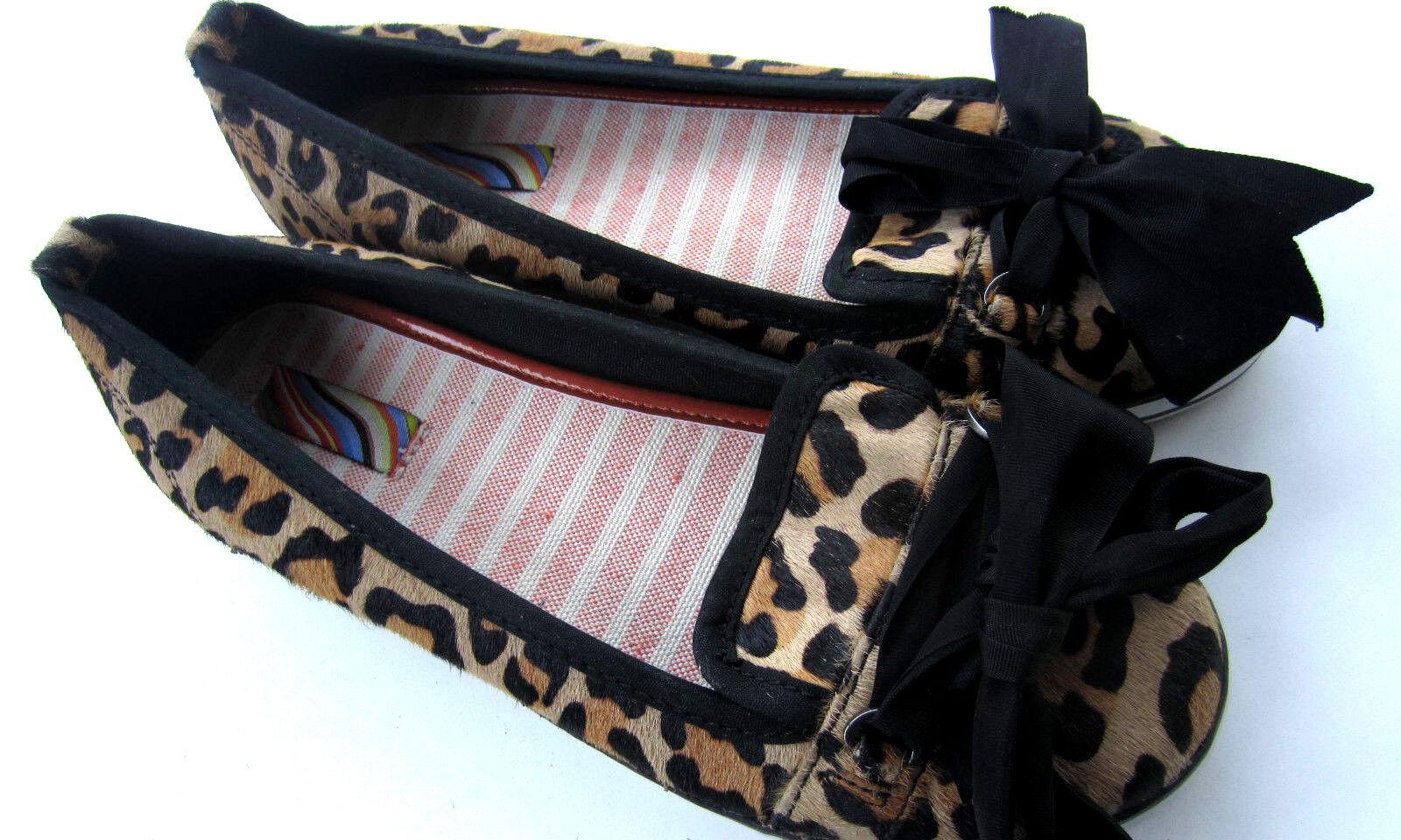 prendi l'ultimo Paul Smith Piatto Scarpe Scarpe Scarpe da Leopardo Design Pelliccia Taglia EU38 UK5  acquista marca
