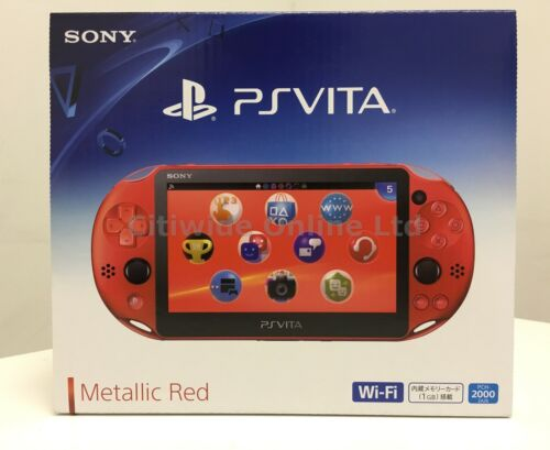 1 of 1 - Sony Playstation PS Vita Wi-Fi Metallic Red PCH-2000ZA26 PCH-2000 2016 New Color