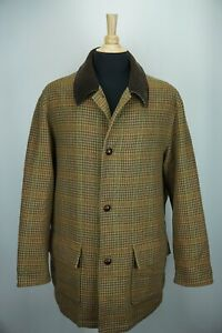 Brooks-Brothers-Outerwear-Multicolor-Plaid-Woven-Wool-Tweed-Jacket-Sz-L