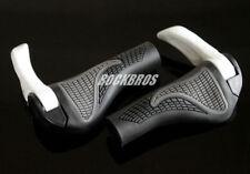 Bike MTB Folding Bike Handlebar Rubber Grip Black Gray /& Aluminum Barend White