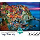 Buffalo Games Cinque Terre Beautiful Italian Riviera 2000-Piece Jigsaw Puzzle