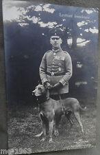 original Sanke  Flieger Foto AK  362  Letnant Immelmann mit Dogge gelaufen  1916