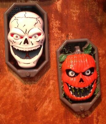 Halloween Totenkopf Türklingel Sound Aktion LED gruselige Stimmeffekte
