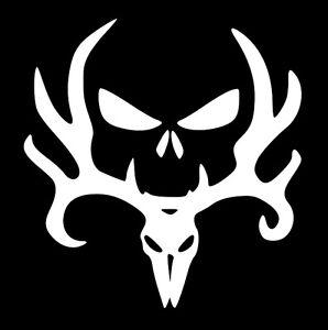 Deer skull punisher hunt removable vinyl decal sticker usa car image is loading deer skull punisher hunt removable vinyl decal sticker publicscrutiny Gallery